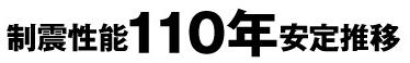 制震性能110年安定推移